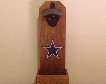 Wall Mounted Bottle Opener - Dallas Cowboys