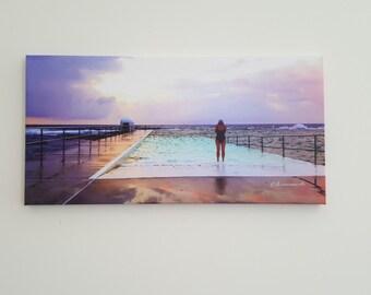 newcastle nsw, sunrise, photo canvas