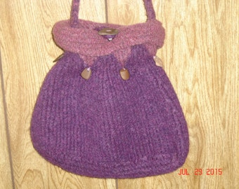 Purple Pansy Purse