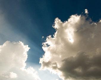 Clouds - Sky - Sky Photo - Clouds Photo - Sunshine - Nature Poster - Digital Photo - Digital Download - Instant Download - Kids Room Decor