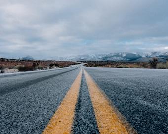 Highway Digital Photo - Highway Photo - Landscape - Asphalt - Road Trip Photo - Away - Digital Photo - Digital Download - Man Room Decor