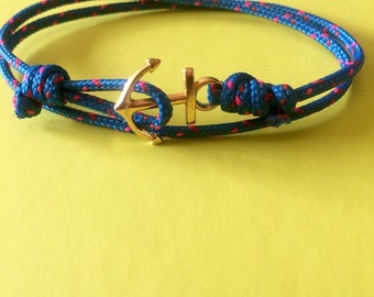 bracelet ancre de marine ajustable