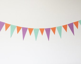 Triangle Paper Garland, 10ft, Sherbet