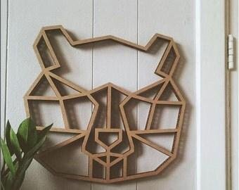 Geometric Bear – Brown cardboard-Laroid.com