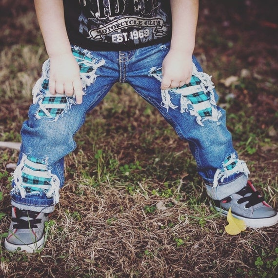 f9f4fa9bc ... Denim Clothing Ripped Jeans Baby Boys: Just Shred-Unisex Skinny Jeans  Boys Girls By CrownedLaurelkids