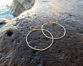 Organic Hoop Dangle Earrings