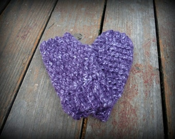 Fingerless Gloves Crochet Purple, Pink, White, Yellow, Brown