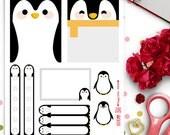Cute Penguins Weekly Theme Planner Stickers |  Erin Condren | Life Planner | Horizontal & Vertical