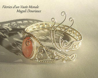 Wirewraps tourmaline bracelet