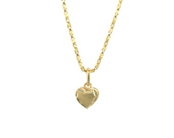 Tiny Heart Necklace/14K Gold Filled/Love Charm/Gold Necklace