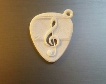 guitar pic keychain- 3d printed (3 pack