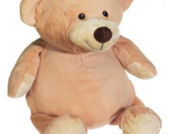 18 inch personalized stuffed brown bear