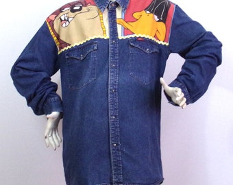 Long Shirt Looney Tunes Model T L / XL Lee Cooper by K4U-Créations | Price sold!