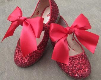 Satin shoe bows, sandles, girls, toddlers