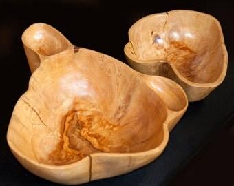 Cypress knee Salsa Chip bowl pair