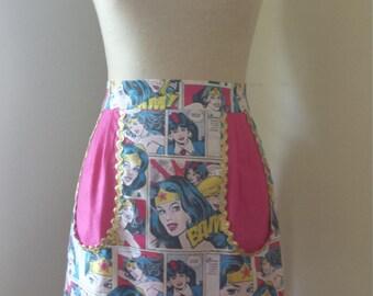 Funky Wonder Woman 1950's style apron