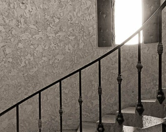 Spiral Staircase Sepia, Architectural Photography, Fine Art Photography