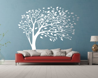 Elegant windy tree