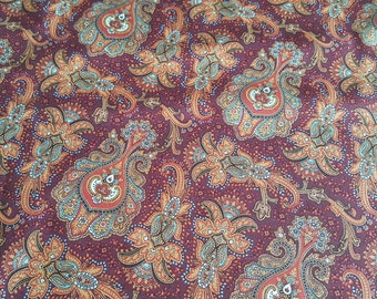 Penny Rose Meadow Fabric - Civil War Fabric - Red Paisley