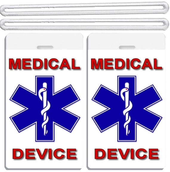 Simplicity image regarding medical equipment luggage tag printable