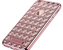 Luxury Gold Bling Glitter Diamond Case For iPhone 7 & 7 Plus With Soft TPU Back Cover (Also available for iPhone 6S Plus/SE/5/5S)