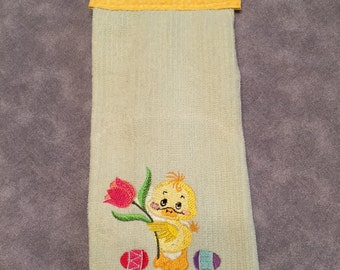 Hanging Kitchen Easter Duck Towel-Embroidered