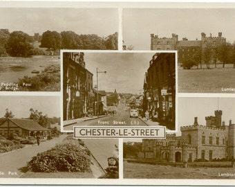 Chester-Le-Street  Lambton Castle  Lumley Castle Co. Durham England RPPC Real Photo POSTCARD