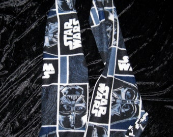 STAR WARS Blue Darth Vader Polar Fleece Scarves for the entire Family!-Handmade! Free Shipping!