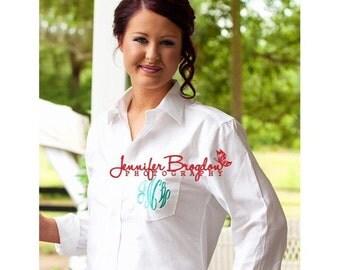 Bride and Bridesmaids Monogrammed Shirts