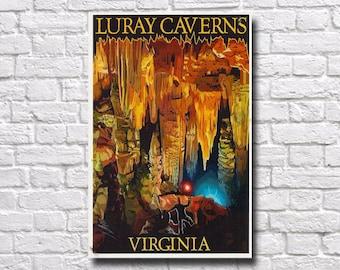 "Luray Caverns Travel Poster - 11"" x 17"" - #0129"