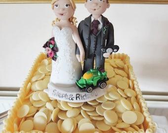 Personalised Bride & Groom Wedding Cake Topper