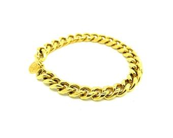 Vintage Signed Bracelet | Gold Chain Bracelet | Designer Jewelry | Vendôme Jewelry | Vintage Chain Bracelet | 1960s Bracelet | Retro