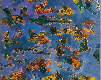 """Print of """"Cosmic Debris"""" By Bruce Mishell 28"""" x 22"""" (1997)"""