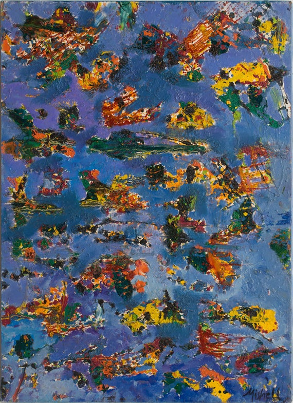 "Print of ""Cosmic Debris"" By Bruce Mishell 28"" x 22"" (1997)"