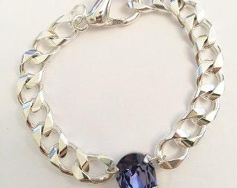 lustre pear swarovski crystal stacking bracelet in majestic. Black Bedroom Furniture Sets. Home Design Ideas