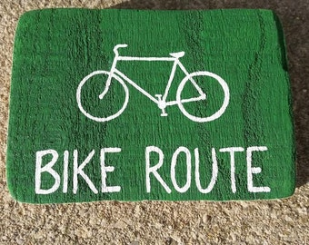 Street sign magnet; Bike Route; Slow, Children at Play; Custom