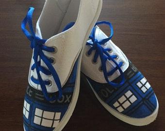 Handmade Doctor Who TARDIS Shoes