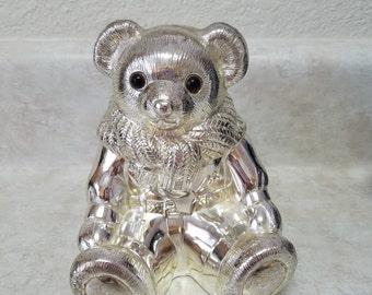 Ralph Lauren Silver Tone Teddy Bear Coin Bank