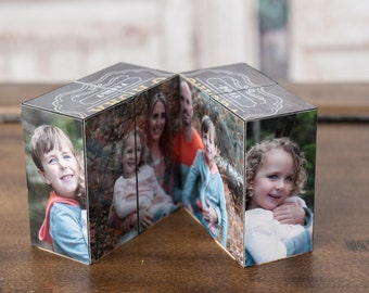 Photo Block - Photo puzzle -Photo block puzzle - Photo Cube - Home Decor - Keepsake - Gift - Cube - Photos