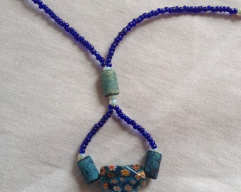 Those China Blues Long Strands Necklace