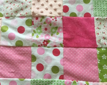Pink limeaid flannel blanket