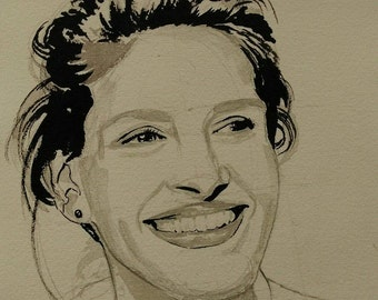 Julia Roberts ink drawing