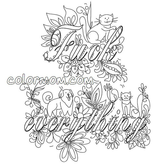 curse word coloring book etsy coloring pages