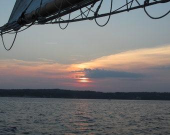 Photographic Print, Sunset, Nautical, Home Decor