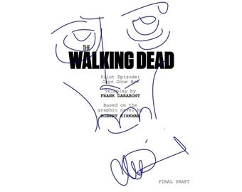 "Charlie Adlard ""The Walking Dead"" Signed Script Sketch Reprint"