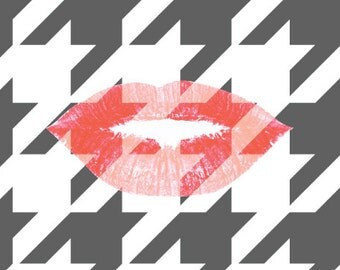 Houndstooth and Red Lips