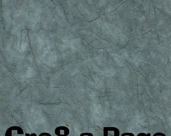 Cre8-a-Page M-14 Handmade Blue/Gray Transparent Mulberry Paper 12x12 Scrapbooking, 10 Sheets