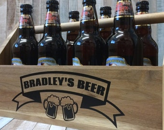 Personalised Beer Crate Caddy