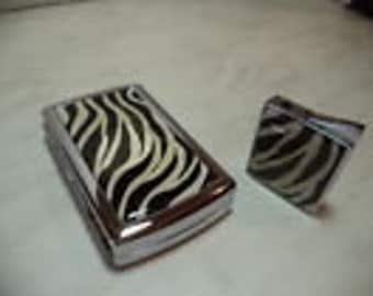 set lighter and cigarette case