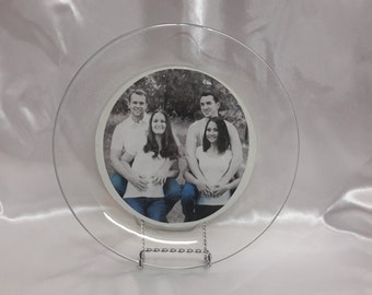 Glass Photo Plate (made to order)